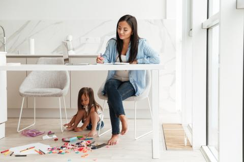 How to maintain professionalism when working from home with kids